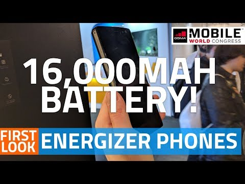 Energizer Power Max P16K Pro With 16000mAh Battery, P600S, P490S, Hardcase H590S First Look #MWC18