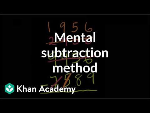 Alternate mental subtraction method