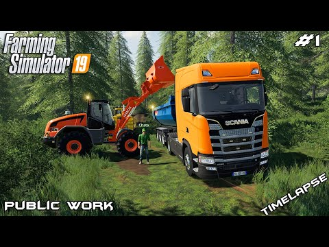 Building forest road | Public Work on Geiselsberg | Farming Simulator 19 | Episode 1
