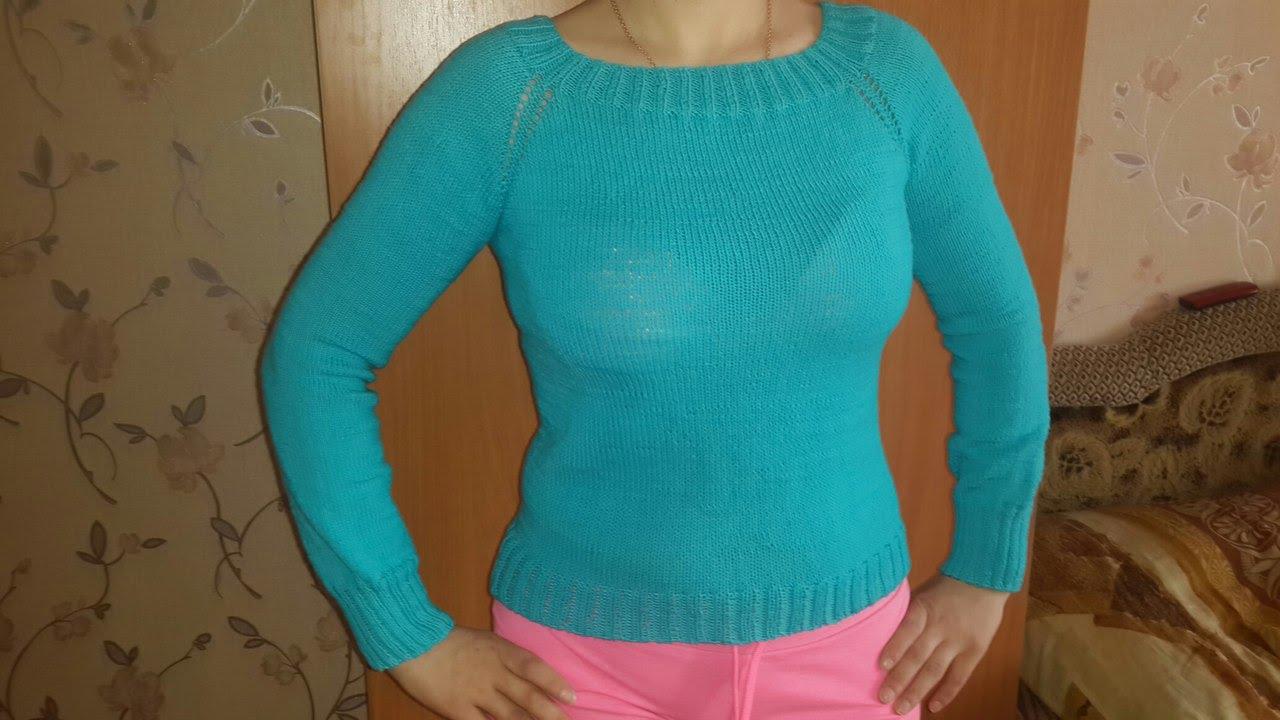 Вязание спицами свитера для начинающих мастер класс 81