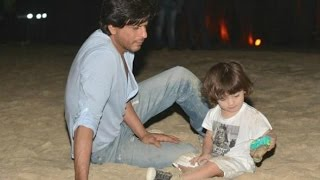 Shahrukh Khan Spend Time With AbRam On Goa Beach