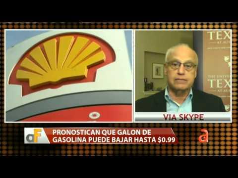 Pronostican que galón de gasolina puede bajar hasta $0.99