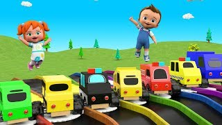 Little Baby Fun Learning Street Vehicles Names for Children Color Water Slides 3D Kids Educational