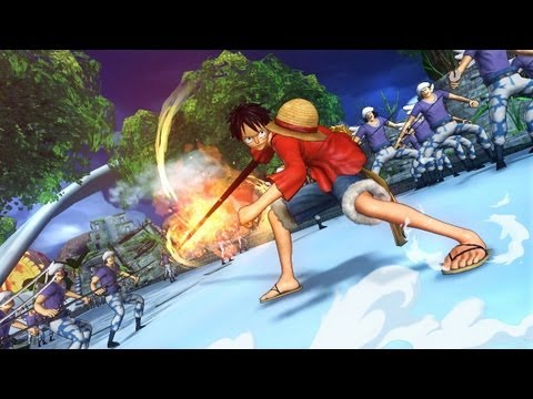 One Piece Pirate Warriors 2 ! Attaques De Luffy + Perso Jouables video