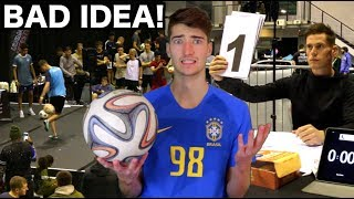 I Entered a PRO Freestyle Football Competition + THIS Happened!!