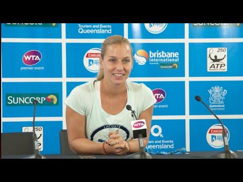 Dominika Cibulkova press conference - Brisbane International 2015