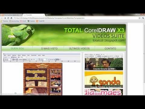 Exportando HTML no CorelDRAW