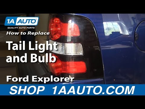 How To Install Replace Broken Taillight and Change Bulb 2006-10 Ford Explorer