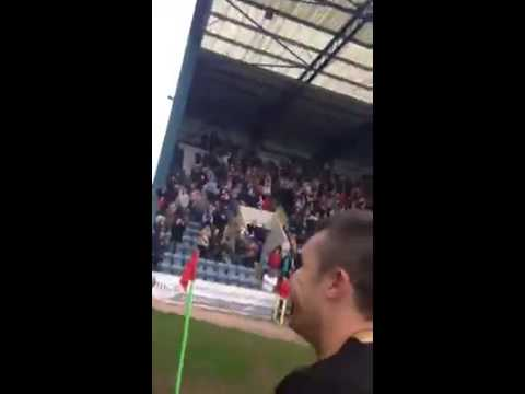 Colin Nish (current Dumbarton player, previously Dundee last season) asked if he hates Dundee United after fans invade pitch to congratulate the Dundee team on winning the Scottish Championship....