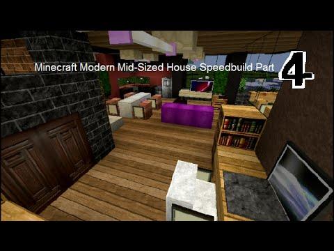 Minecraft Speedbuild : Modern Mid-Sized House Part 4