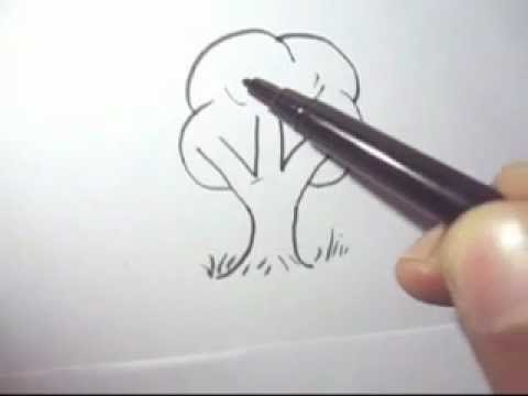 Easy Forest Tree Drawing How to Draw a Tree Fast And