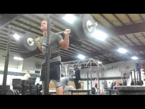 John Cena Training | Heavy Low Squats Image 1