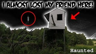 (GONE WRONG) THIS HAUNTED LOCATION ALMOST ENDED MY FRIENDS LIFE! // THE HAUNTED TREE FORT