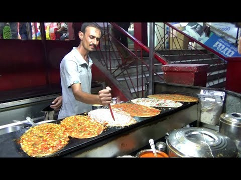 Over Thousands of People Eating Spice Upma Masala Dosa   Hari Dosa in Ameerpet   Indian Street Food