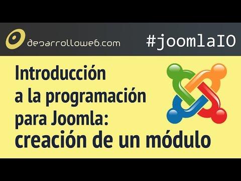 Introducci�n a la programaci�n para Joomla: creaci�n de un m�dulo #joomlaIO