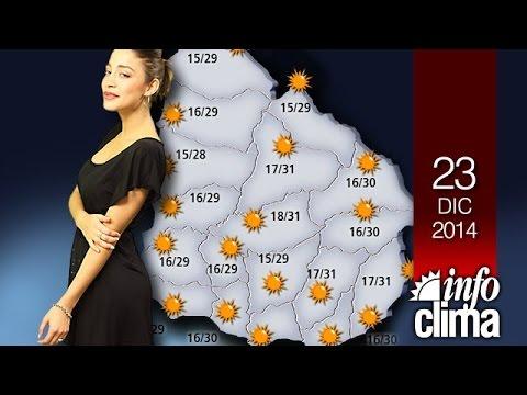 Pronóstico para el 23 de diciembre de 2014  Uruguay - Infoclima TV.