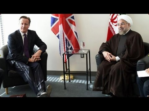 UK PM Cameron Holds Talks with Iran Pres Rouhani