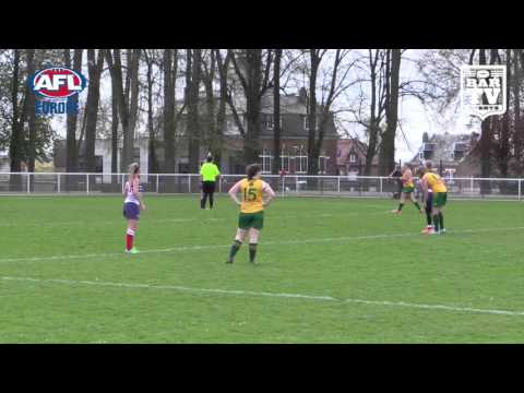 2016 AFL Europe ANZAC Day Women's Highlights - Australia v France