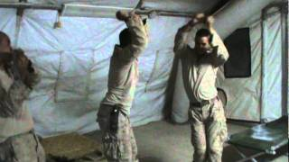 Marines dance to scrubs.