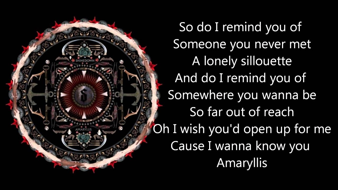 Shinedown Lyrics Wallpaper Shinedown Amaryllis With