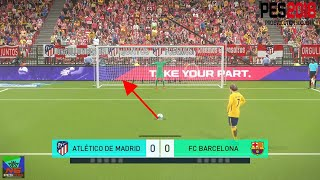 PES 2018 - Shootout Penalty Kicks [   Atlético De Madrid  Vs  FC Barcelona  ] PS4 Gameplay