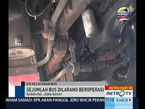 Tidak Laik Jalan, Sejumlah Bus Dilarang Beroperasi