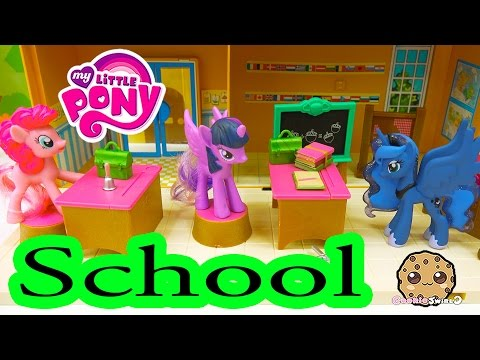 MLP School with Pinkie Pie. Twilight and Princess Luna - My Little Pony Classroom - Cookieswirlc