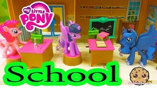 MLP School with Pinkie Pie, Twilight and Princess Luna - My Little Pony Classroom - Cookieswirlc