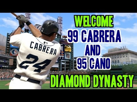 MLB 15 The Show Diamond Dynasty 99 Miguel Cabrera And 95 Cano Huge First Game!