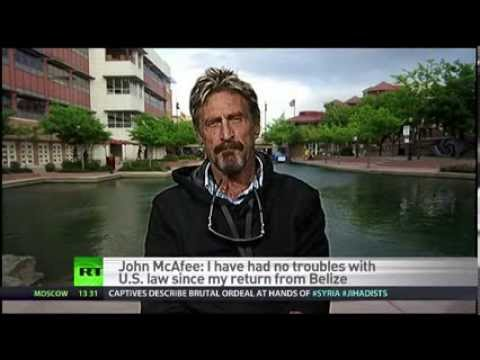 "John McAfee ""A government that spies on us all the time is no use.."""
