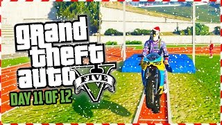 GTA 5 Funny Moments - WINTER OLYMPIC GAMES!!! (Day 11 of 12) (GTA 5 Christmas Special)