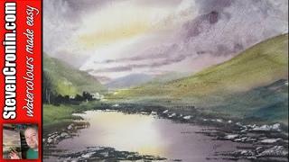 How to paint a watercolour landscape