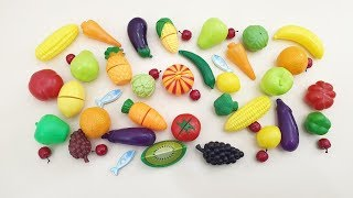 Learn Vegetables and Colors and Fruits Names Video for Kids