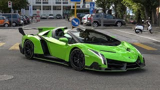 $5.0 Million Lamborghini Veneno Roadster in Switzerland - START UP & BRUTAL SOUNDS
