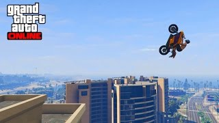 GTA 5 - TOP 10 Mafia challenge ! Epic Moto stunts
