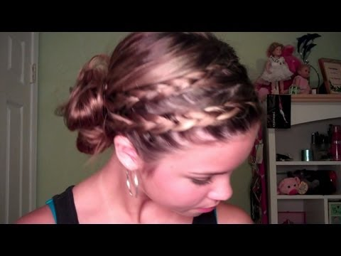 Back to School: Double Braided Side Bun Hair Tutorial
