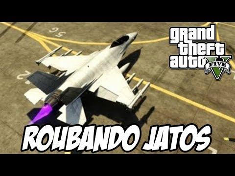 GTA V - Roubando Jatos no forte zancudo em equipe e rumo ao fim do mundo