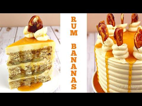 Vegan Bananas Foster Cake || Gretchen's Bakery