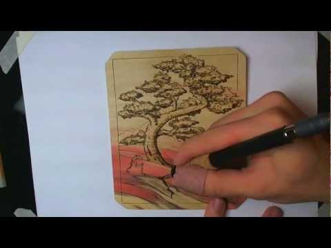 How To: Wood Burning a Bonsai Tree Design