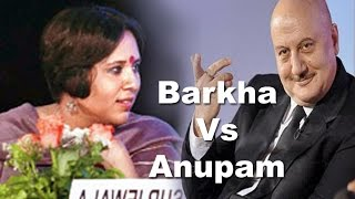 Barkha Dutt Vs Anupam Kher ,Telegraph National Debate 5th march 2016 | Logic Vs Impulse