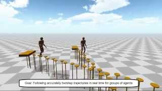 Footstep Parameterized Motion Blending using Barycentric Coordinates