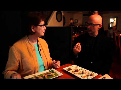 Moby talks about being vegan at Blossom Restaurant