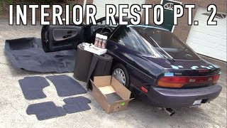 240SX Interior Restoration Part 2: Installing New Carpet & Sound Deadening!