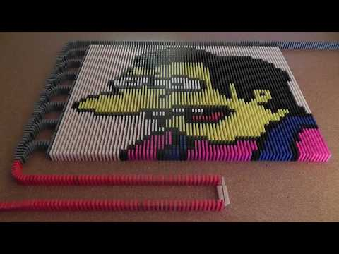 Domino Day 2011 - The Simpsons 50,000 Dominoes [HD]