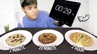 i tested a 2-MINUTE vs. 20-MINUTE vs. 2-HOUR cookie recipe
