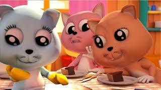 ba chú mèo con nhỏ   bài hát cho trẻ em   mèo con vần   3D Nursery Rhymes   Three Little Kittens