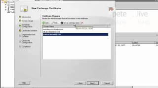 Exchange 2010   Working With Certificates
