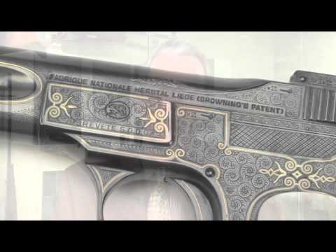 Theodore Roosevelt's engraved FN 1900 pocket auto pistol.  A National Firearms Museum Treasure Gun.