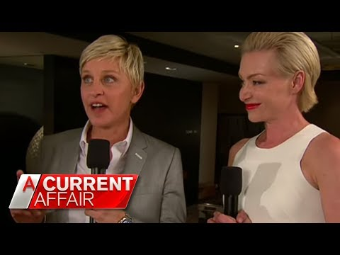 A CURRENT AFFAIR - Ellen Degeneres and Portia de Rossi Live