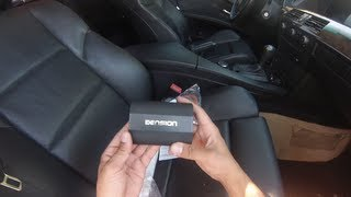 BMW 5 series e60 Dension Gateway 500s Bluetooth install Iphone 5 4